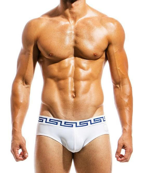 MODUS VIVENDI MEANDER SWIM BRIEF (WHITE) - The Jock Shop