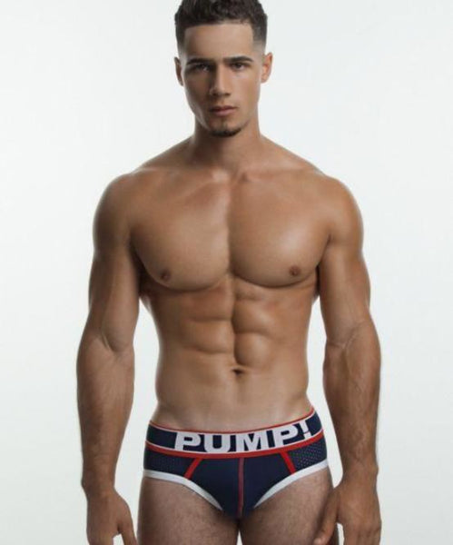 PUMP! BIG LEAGUE MESH BRIEF (NAVY) - The Jock Shop