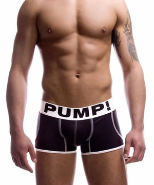 PUMP! BLACK JOGGER MESH BOXER BRIEFS (BLACK) - The Jock Shop