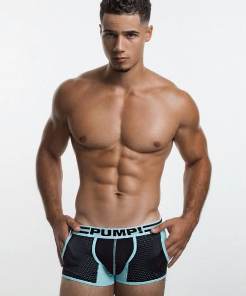 PUMP! HYPOTHERM JOGGER BOXER BRIEFS (AQUA/BLACK) - The Jock Shop