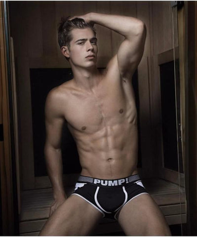 PUMP! MILITARY ACCESS BOXERS (BLACK) - The Jock Shop