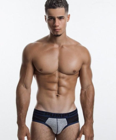 PUMP! SHADOW GREY SPORTS MESH BRIEF (BLACK/GREY) - The Jock Shop