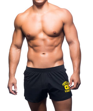ANDREW CHRISTIAN PHYS. ED. SHORTS (BLACK) - The Jock Shop