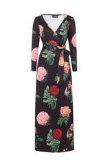 Willow Floral Wrap Maxi Dress