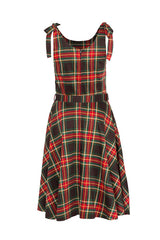NEW TARTAN ENGLISH RETRO FLARE FIT DRESS CHECK VINTAGE 50 ROCKABILLY
