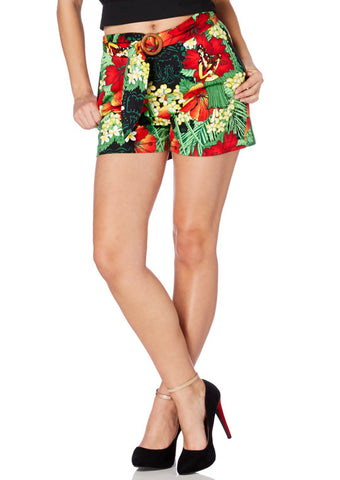 SRA3422 -  EXOTIC SHORTS SPRING FLOWERS