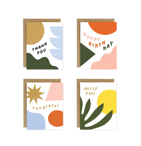 Bold Shapes Essentials! Card Set of 8