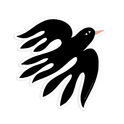 Black Bird Die Cut Sticker