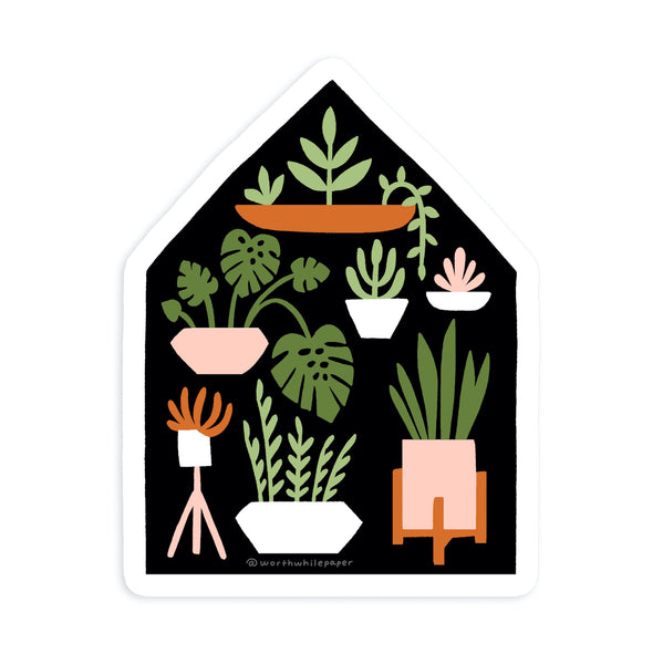 Houseplants Die Cut Sticker