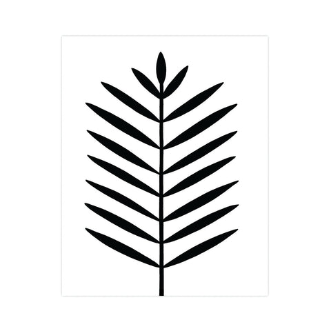 Modern black palm leaf 11x14 print