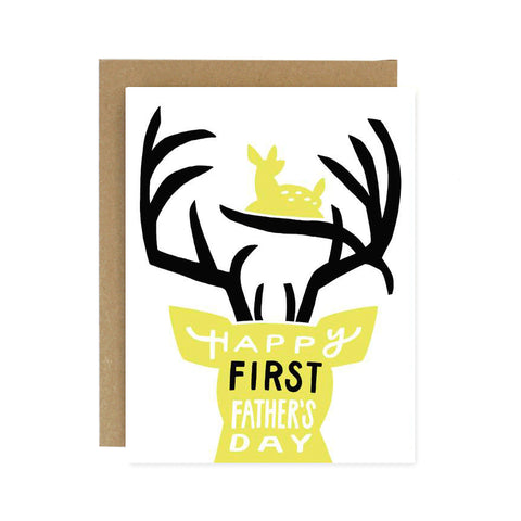 First Father's Day Deer Card