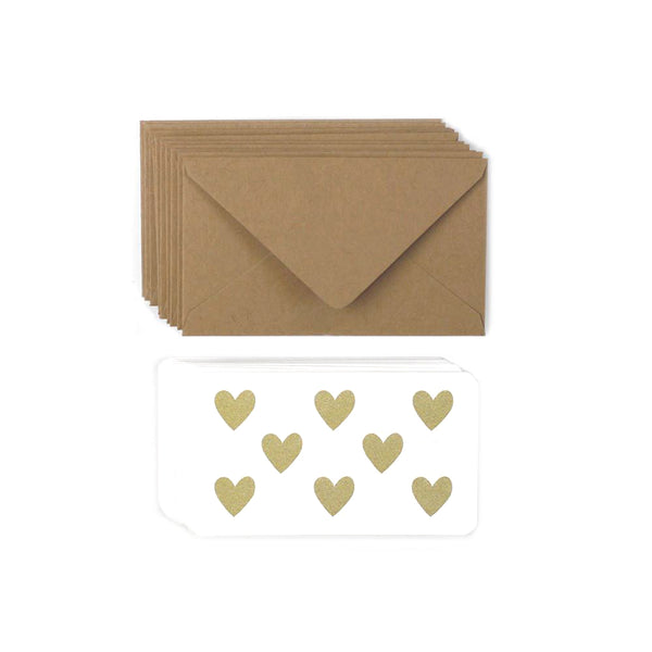 Gold Hearts Mini Note Set