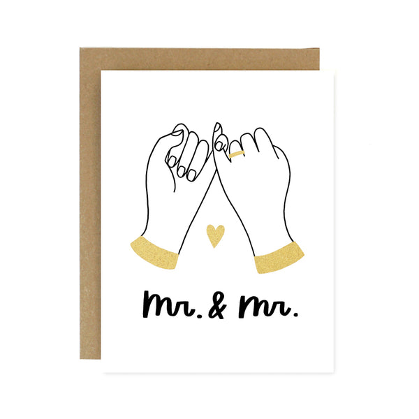 Mr. & Mr. - Pinky Promise Wedding Card