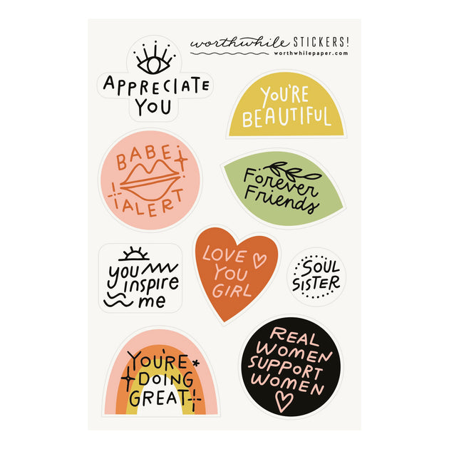 Friendship Sticker Sheet Set - Lady Friends