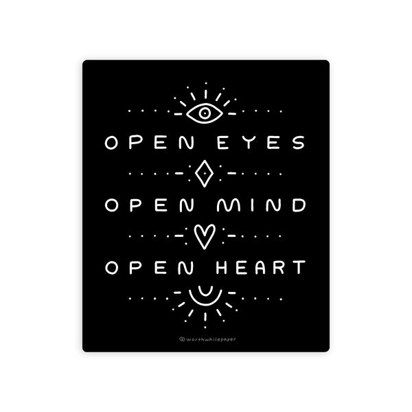 Open Eyes Die Cut Sticker