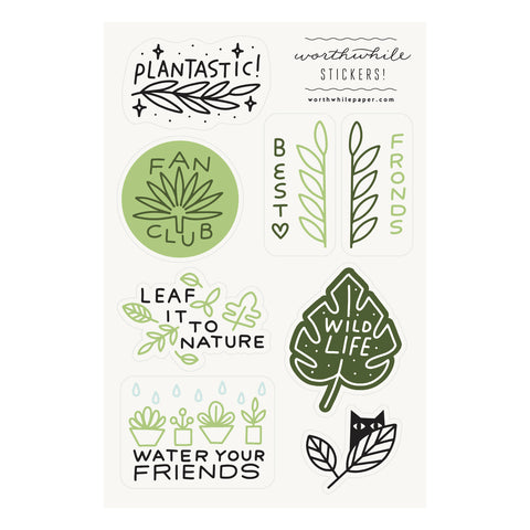 Plants Sticker Sheet Set