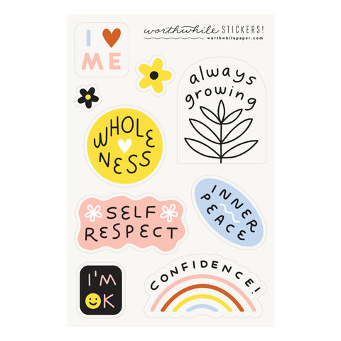 Self Love Sticker Sheet Set
