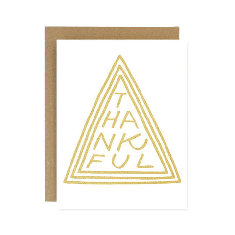 Thankful Triangle Card