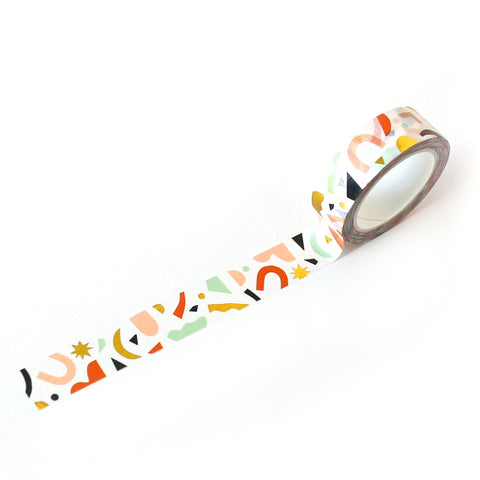 Confetti Pattern Washi Tape - Colors & Gold