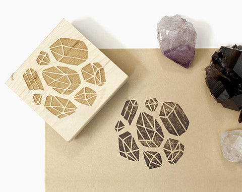 Crystals Rubber Stamp