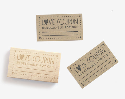 Love Coupon Rubber Stamp