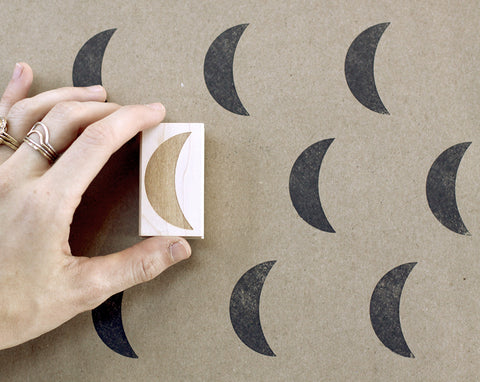 Jumbo Moon Rubber Stamp