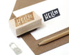 Hello Shape Rubber Stamp
