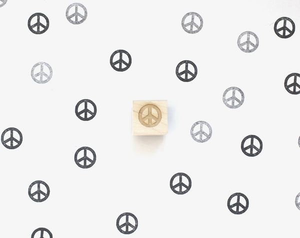 Mini Peace Sign Stamp