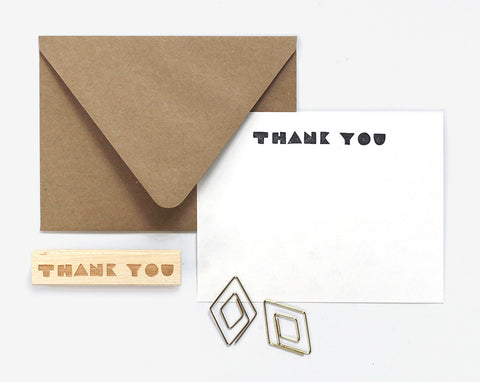 Thank You Geometric Type Stamp