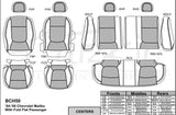 2004 - 2006 Chevrolet Malibu Katzkin Leather Interior (without SRS seat airbags, 60/40 rear) (2 row)