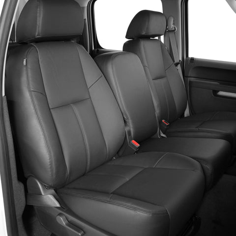 2010 - 2013 Chevrolet Silverado CREW CAB LS Katzkin Leather Interior (3 passenger front seat with storage) (2 row)