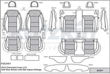 2016 - 2017 Chevrolet Cruze L / LS Katzkin Leather Interior (new body style, solid rear without center armrest) (2 row)