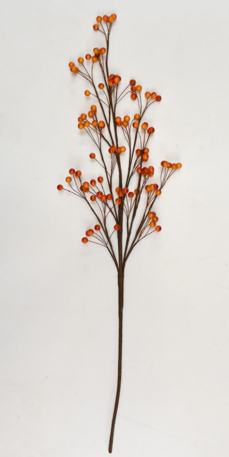 Berry Stems Orange 36 Inch (Set of 6 Stems)