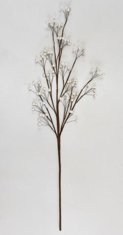 Berry Stems White 36 Inch (Set of 3 Stems)