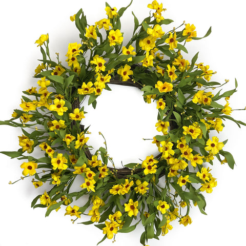 Yellow Black-Eyed Susan Wreath