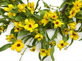 Yellow Black-Eyed Susan Wreath - 5199Q0801 - 24 Inch - close up