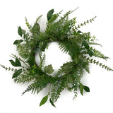 Forest Fern Wreath - 22 Inches - 5194Q0801