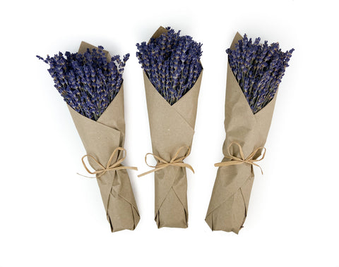French Lavender - Kraft Paper - Set of 3 Bunches