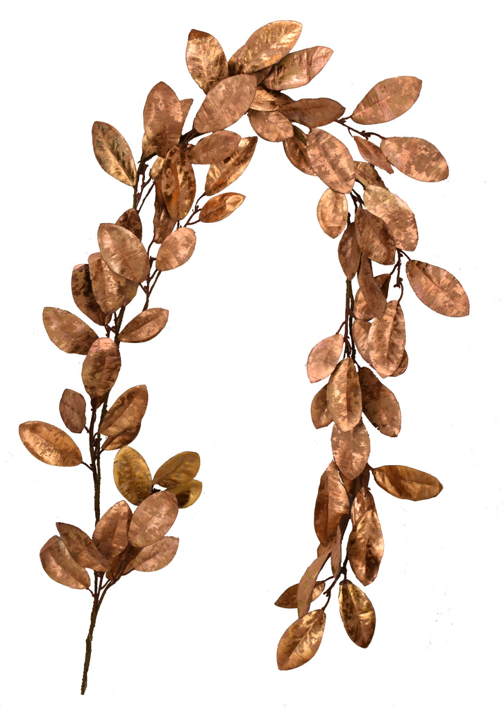 Gilded Magnolia 5 Foot Garland Rose-Gold