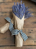 French Lavender - Kraft Paper - Canopy Stripe Ribbon