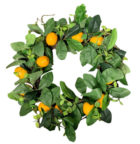 Lemon and Greenery Wreath