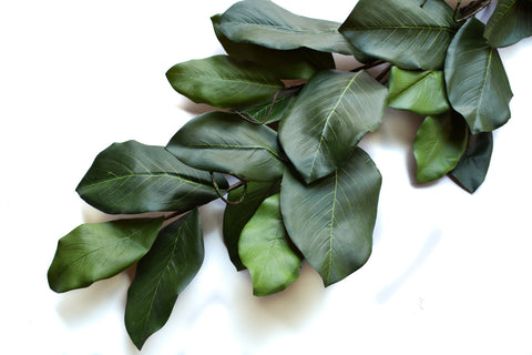 Magnolia Leaf Classic Green Garland - 6 Feet