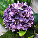 Magnolia Hydrangea Wreath-Purple