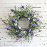 Lavender Garden Wreath - 20 Inches