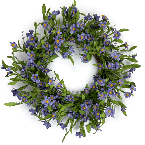 Purple Forget-Me-Not Wreath