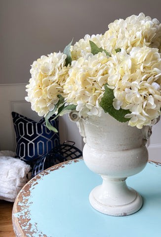 Hydrangea Stems - Cream - 3 Stem Bunch