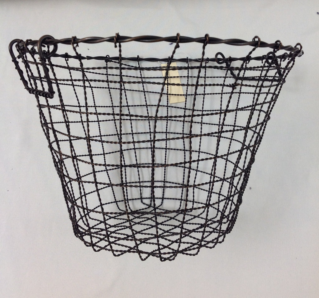 "Iron Basket Round - 16.25"" x 12.25"""