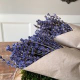 French Lavender In Kraft Paper Close Up