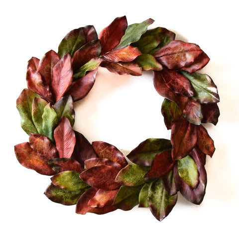 Jeweled Magnolia Wreath - 24 Inch