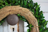 Preserved Boxwood Garden Wreath - 14 Inch - Bella Marie - 5